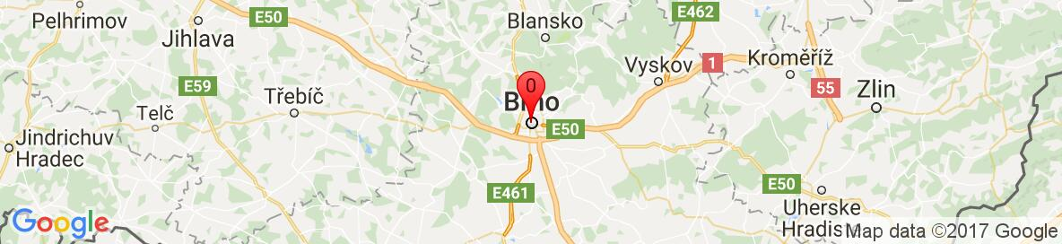 Mapa Brno, Česko. More detailed map is available only for registered users. Please, register or log in.